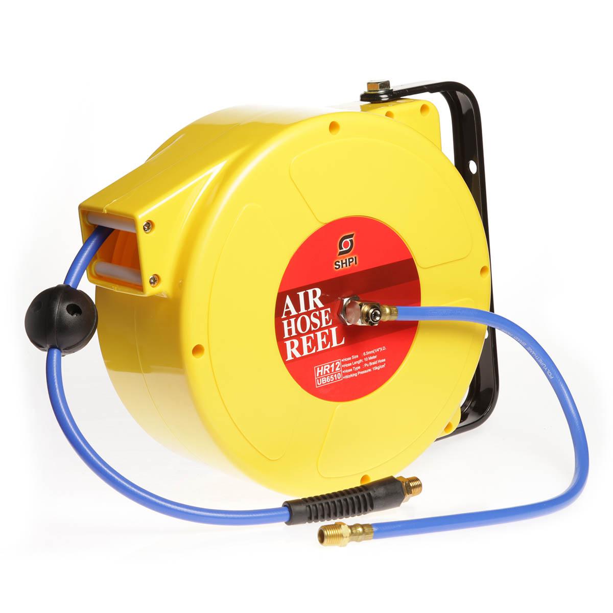 Air hose reel c w braided polyurethane hose royal fluid - Enrolladores de manguera ...